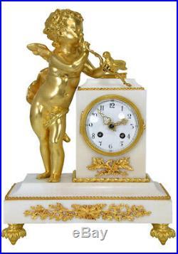 Pendule Cupidon. Kaminuhr Empire clock bronze horloge antique cartel uhren