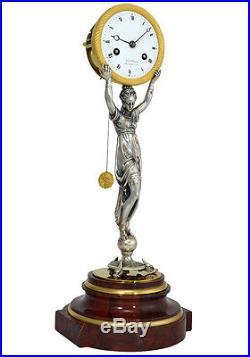 Pendule Danseuse orientaleI. Uhren clock bronze horloge XIX french antique