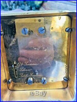 Pendule De Voyage Chronometre L. Leroy Grande et petite Sonnerie officier