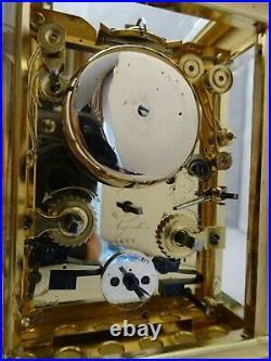 Pendule De Voyage d'officier Grande Sonnerie Triple Date, Seconde Gustave SANDOZ
