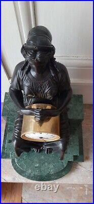 Pendule Empire Louis XVI Bronze Uranie French Clock