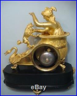 Pendule Empire en bronze doré''Le Char de Venus'' (French clock ormolu)