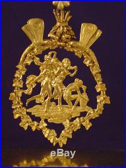 Pendule Empire retour d'Egypte bronze doré french clock uhr XIXéme (1800-1810)