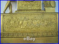 Pendule En Bronze Dore Epoque Empire