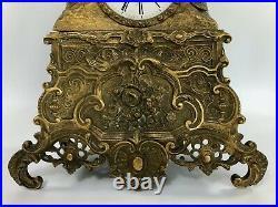 Pendule Epoque Romantique En Bronze Femme Au Calvaire Vincenti Et Cie 19e C2690