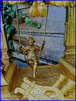 Pendule Farcot a balançoire Escarpolette a sonnerie vers 1880