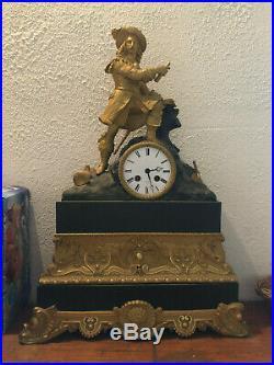 Pendule Française en bronze doré