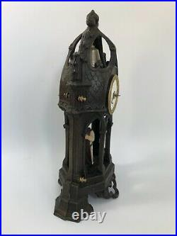 Pendule Gothique Automate Regule Clocher Moine Initiale A T C Ou A Croix C Z405