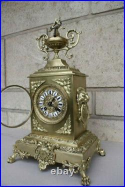 Pendule Horloge Ancienne En Bronze