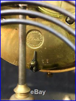 Pendule / Horloge En Forme De Cage De Style Louis XV Avec Balancier Au Mercure