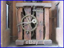 Pendule, Horloge, FORET NOIRE, antique black forest clock, décor personnage. Coucou