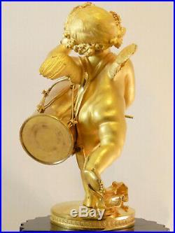 Pendule Louis XVI à deux cadrans bronze clock uhr reloj