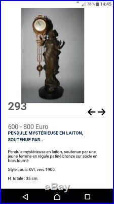 Pendule Mysterieuse Epoque 1900 Révisee Mysterious Clock C 1900 Kaminuhr Reloj