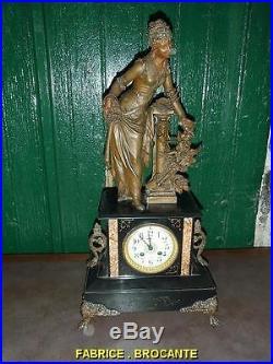 Pendule Napoleon III En Marbre Et Regul Leroy