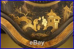 Pendule Oeil de boeuf Napoléon III décor aux Chinois Ackermann à Belfort