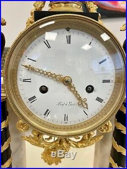 Pendule Portique Epoque Louis XVI