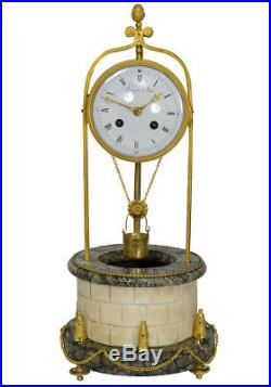 816fbf7b04b Pendule Puits à eau Léchopié Kaminuhr Empire clock bronze horloge antique  cartel