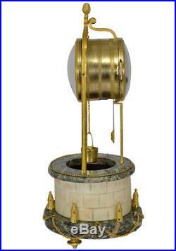 Pendule Puits à eau Léchopié Kaminuhr Empire clock bronze horloge antique cartel