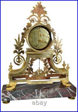 Pendule RIDEL. Kaminuhr Empire clock bronze horloge antique cartel napoleon