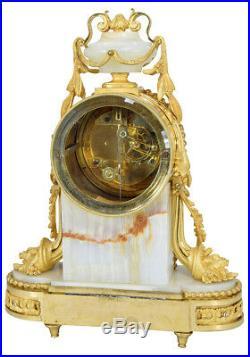 Pendule Raingo. Kaminuhr Empire clock bronze horloge antique cartel Napoleon