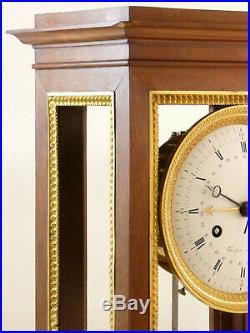 Pendule Regulateur En Acajou Et Bronze Doré Thonissen clock uhr reloj orologio