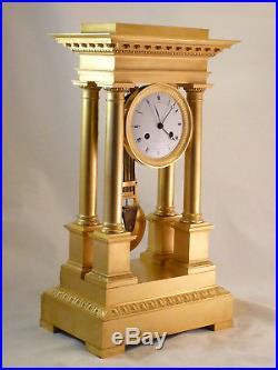 Pendule Régulateur Signée Bled à Trotteuse Centrale En Bronze Doré Clock Uhr