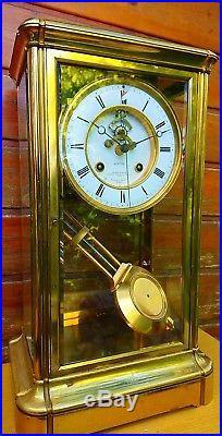 Pendule Régulateur cage Leroy et fils Seconde centrale clock uhr
