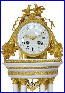 Pendule Temple portique. Uhren clock bronze horloge XIX french antique