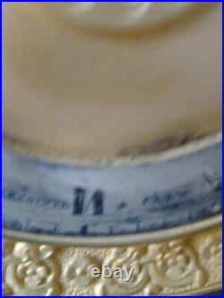 Pendule UHR 19eme Bronze doré au mercure et patine vert foncé belle qualité