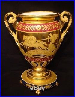 Pendule''Vase'' Empire en Porcelaine de Darte (French clock)