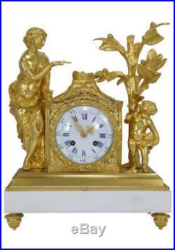 Pendule Vestale. Kaminuhr Empire clock bronze horloge antique uhren horloge