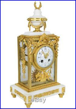 Pendule Vitrée. Kaminuhr Empire clock bronze horloge antique cartel Napoleon