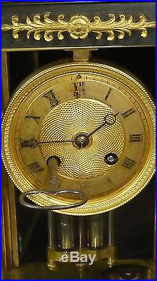 Pendule XIX Eme Bronze Doré Double Patine Cassolettes Ad Mougin Ch Gautier A419