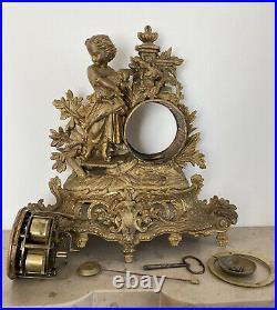 Pendule XIXe en régule, mouvement JAPY / E. GAILLOT médaille dhonneur en 1855