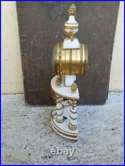Pendule à colonnes style Louis XVI en Marbre blanc & Bronze doré Napoléon 3