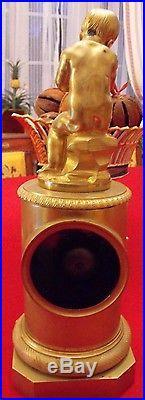 Pendule a fil en bronze cherubin bébé empire restauration