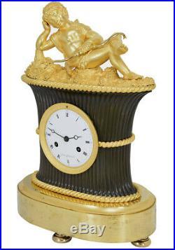 Pendule angelot. Kaminuhr Empire clock bronze horloge antique cartel uhren