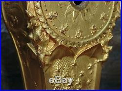Pendule art nouveau 1900 bronze doré éc. Majorelle superbe décoration clock