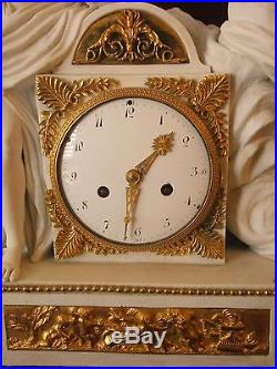 Pendule biscuit du Epoque Louis XVI. 1780