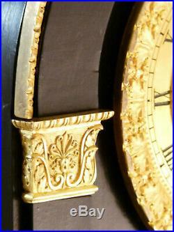 Pendule bois noirci et bronze doré époque Restauration clock uhr reloj orologio