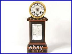 Pendule borne Charles X thermomètre palissandre marqueterie Brocot XIXème