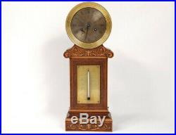 Pendule borne Charles X thermomètre palissandre marqueterie Pons XIXème