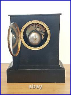 Pendule borne notaire marbre noir