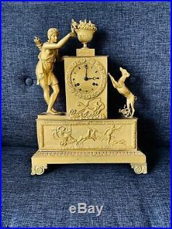 Pendule bronze Doré empire XIX EME A Venus clock