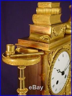 Pendule bronze doré Empire Restauration Uranie french clock uhr horloge XIXéme