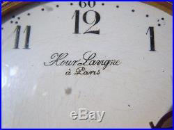 Pendule bronze doré Hour Lavigne à Paris numérotée mouvement mécanique