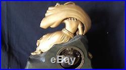 Pendule bronze doré à la Turque Restauration 19e