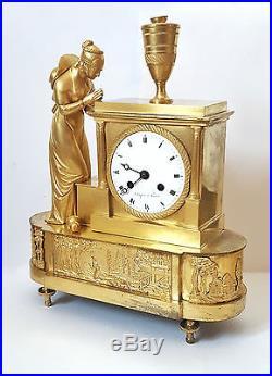 Pendule bronze dore epoque Directoire fin XVIII s. Chopin a Paris