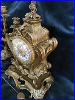 Pendule bronze style LouisXV clock pendel slinger péndulo pendolo
