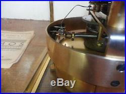 Pendule cage 5 verres bisautes atmos J L Reutter annees 30 numero 384
